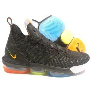 best cheap d24cb c0e12 Nike Lebron 16 I Promise Black Metallic Shoes NWT